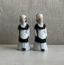 Sweet Old German Porcelain Salt and Pepper Shakers House Maid Outfits