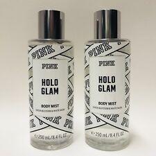 2 Victoria's Secret Pink Holo Glam Body Mist Spray 8.4 fl.oz 250 ml New Holiday