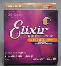 Jeu de cordes Elixir 16027 pour guitare folk  - Haute longévité