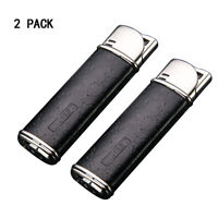 2Pack Windproof  Cigar Lighter Single Jet Blue Flame Adjustable Torch Lighter