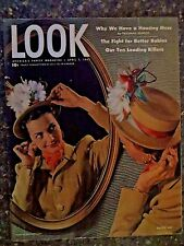 1947 April 1  Look Magazine Easter Hat VINTAGE ADS Our Ten Leading Killers