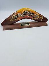 Genuine Jabiru Wooden Boomerang Australian Native Aboriginal Crafted On Stand