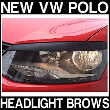 VW Polo V 5 MK5 (6R) HEADLIGHT Sopracciglia Trim COVER COPERCHI Brow Sopracciglia Nuovo