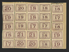 Canada Revenue EZ, 25 coupons from Ration Book Two on storekeeper's sheet.