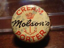 Molson's Cream Porter  - Canadian Cork Cap - Canada crown