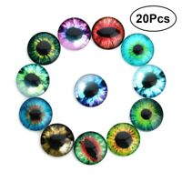 20pcs Realistic DIY Eyes Glass Doll Retro Accessory for Kids Dolls