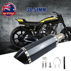 Universal Motorcycle Exhaust Muffler Pipe Removable DB Killer Slip on 38-51mm O