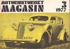 Motorhistoriskt Magasin Swedish Car Magazine 3 1977 Rockne 040317nonDBE