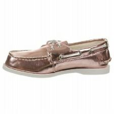 SPERRY Top-Sider A/O Metallic Pink Boat Shoes NIB School Girls Size 2 youth