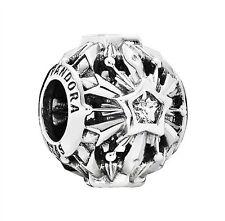 Authentic Pandora Sterling Silver Disney Frozen Snowflakes Charm 791563CZ