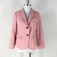 Talbots M 10 P Blush Pink Wool Blend Blazer Riding Jacket Excellent