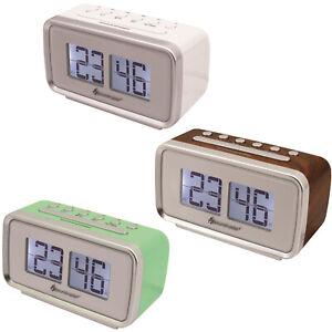 Soundmaster UR105 Retro-PLL UKW Uhrenradio, verschiedene Farben