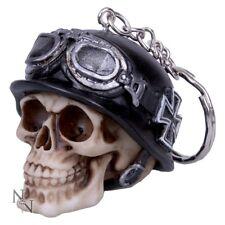 Porte clé crane tete de mort - Casque Biker motard lunette de moto - Iron cross
