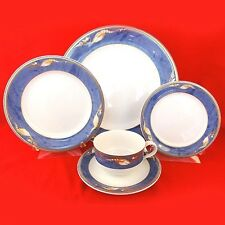 MAGNOLIA LIGHT BLUE by Royal Copenhagen 5 Piece Place Setting NEW NEVER USED