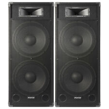 """Pair Dual 15"""" Active Powered DJ Speakers System Skytec CSB215 3200W SSC2877"""