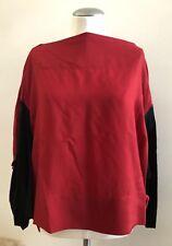 NWOT ISSEY MIYAKE Red & Black Top Blouse, Size 2