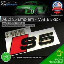 Audi S5 Matte Black Emblem 3D Badge Rear Trunk Lid Audi S Line Logo A5 S5 OEM
