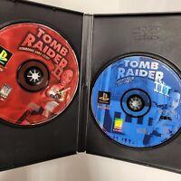 Tomb Raider II (2) & III (3) Adventures Lara Croft Disc Only PS1 Playstation