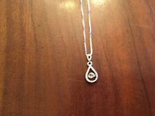 Women's Diamond Drop Dancing Necklace 16""