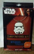 Star Wars Storm TrooperNecklace and 2 Bracelet Gift Set Action **FAST SHIPPING**