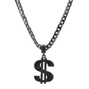 Dollar Sign Cz Pendant Cuban Chain Hip Hop Hema Jewelry Necklace Choker