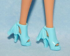 DREAMY! Light Blue High Heels with Faux Tie on Ankle Back Genuine BARBIE Shoes