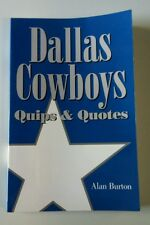 Dallas Cowboys Book Quips & Quotes NFL Football Gift