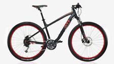 Mountainbike GTI Design, Rahmenhöhe 48cm, Mattschwarz/Rot, Bike Kollektion