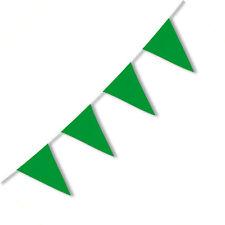 BANDIERINE IN PVC VERDI 10 MT Party Festa Compleanno Festone Decorazioni 529378