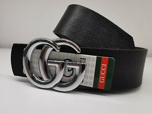 Cintura Gucci GG Unisex Fibbia Argento