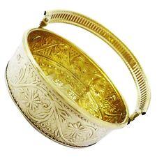 Religious Golden Basket Brass Metal With Handle Handmade Engraved Design Decor