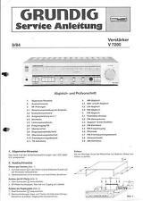 Grundig ORIGINALE Service Manual per V 7200