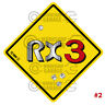 ROTARY STICKER for RX2 RX3 RX4 RX7 RX8 R100 - STREET SIGN RX3 #02