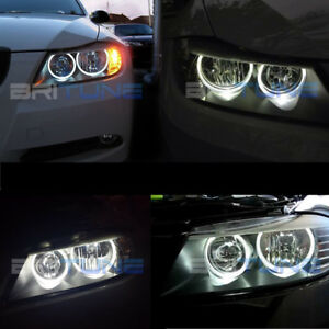 For BMW E90 E91 Non-projector Headlight LED Halo Rings COB Angel Eyes Light Bulb