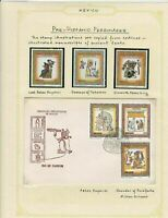 mexico pre-historic personages  stamps page ref 17236