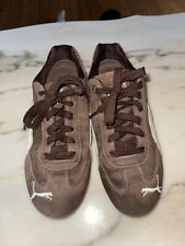 New listing Womans PUMA Speed Cat Suede Driving Shoes Tennis Size 8 Brown Sneaker Vtg.