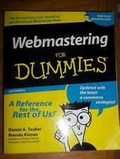 Webmastering for Dummies by Daniel A. Tauber and Brenda Kienan (2000, Paperback)