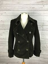 Women's PER UNA Cord Jacket - UK14 - Double Breasted - Brown - Great Condition