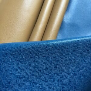 Blue pear fish grain First layer leather material  cowhide for Leathercraft DIY
