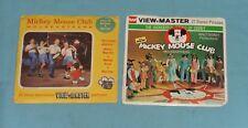 vintage MICKEY MOUSE CLUB Mouseketeers VIEW-MASTER REELS packet lot 5 reels
