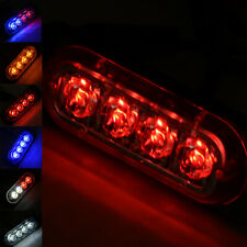 4 LED Grille Bar Car Truck Strobe Flash Emergency Warning Light 8 W 12V-24V