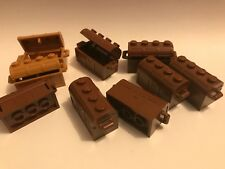 LEGO new 2 LIGHT 7 REDDISH BROWN TREASURE CHEST LOT CASTLE NINJAGO MINECRAFT