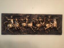 """J. Segura Roman Soldiers Horses Fiberglass Relief Sculpture 60"""" Wall Art VINTAGE"""