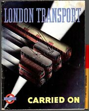 1945 Rare! WWII LONDON TRANSPORT CARRIED ON Cgarles GRAVES Buses Trains Ferries