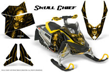 SKI-DOO REV XP SNOWMOBILE SLED GRAPHICS KIT WRAP CREATORX DECALS SKULL CHIEF Y