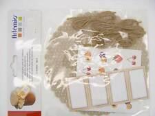 Kit 4 Décorations pour pots de confiture personnalisation Beige Artemio DIY déco