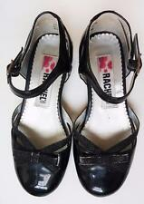 RACHEL SHOES girls sz 12 black bow patent leather mary janes VGUC