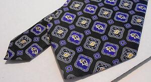 BALTIMORE RAVENS Football NFL Necktie ~ 100% Silk ~ Purple & Black w/Logo