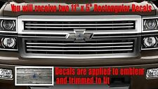 Dallas Cowboys Old Wood OVERLAY Decals Stickers for Chevy Bowtie Emblem-2 U CUT