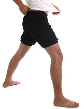 RTBU Men Iyengar Yoga Ballet Dance Practice Pilates Cotton Bloomer Shorts Black